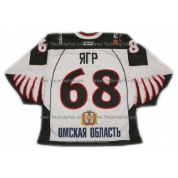 Avangard Omsk 2010-11 Russian Hockey Jersey Jagr Light
