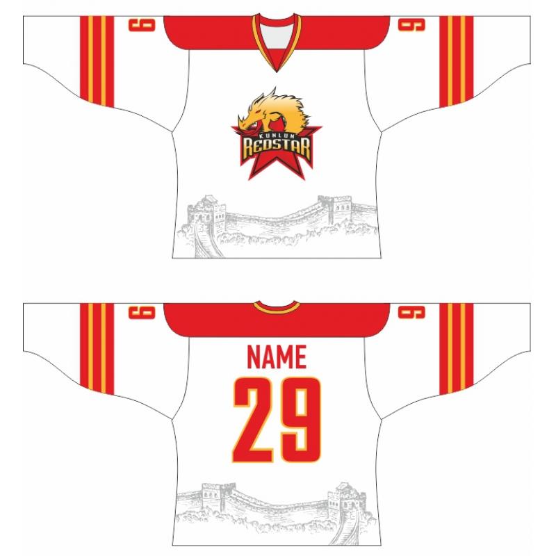 638308354 Kunlun Red Star Hockey Jersey Light