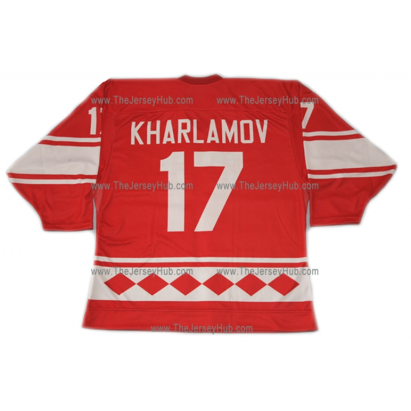 a982a3c1325 Team USSR 1980 Soviet Russian Hockey Jersey Kharlamov Dark