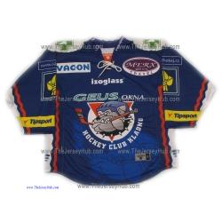 HC Geus Okna Kladno 2009-10 #1 Czech Extraliga Goalie Hockey Jersey Dark
