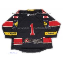 Piráti (Pirates) Chomutov 2013-14 Czech Extraliga #1 Goalie Czech Hockey Jersey Dark