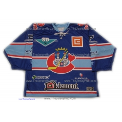 KLH Khomutov 2010-11 Czech Extraliga #1 Goalie Czech Hockey Jersey Dark
