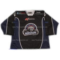 Medvedi (Bears) Beroun 2012-13 Czech Liga #1 Goalie Czech Hockey Jersey Dark