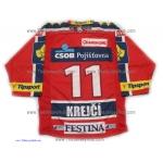 HC ČSOB Pojišťovna Pardubice 2012-13 Czech Extraliga Hockey Jersey David Krejci Dark