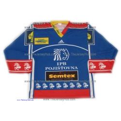 HC ČSOB Pojišťovna Pardubice 1999-2000 Czech Extraliga Hockey Jersey Patrik Elias Dark