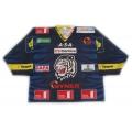 HC  White Tigers Liberec 2013-14 Czech Extraliga #1 Goalie Czech Hockey Jersey Dark