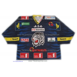 HC  White Tigers Liberec 2013-14 Czech Extraliga #1 Goalie Czech Hockey Jersey Dark