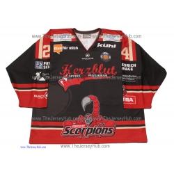 Hannover Scorpions 2016-17 Daniel Lupzig German Hockey Jersey Dark