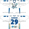 Barys Astana 2010-11 Russian Hockey Jersey Light