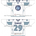 Dinamo Dynamo Minsk 2010-11 Russian Hockey Jersey Light