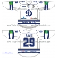 Dynamo Dinamo Moscow 2011-12 Russian Hockey Jersey Light