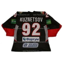 Traktor Tractor Chelyabinsk 2011-12 Russian Hockey Jersey Kuznetsov Dark