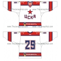 CSKA Moscow 2012-13 Russian Hockey Jersey Light