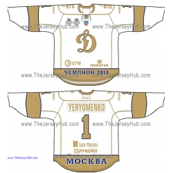 Dynamo Dinamo Moscow 2013 Gagarin Cup Champion's Russian Professional Hockey Jersey