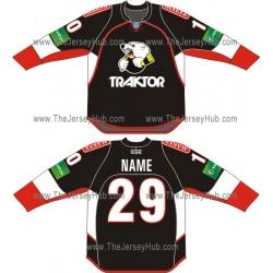 Traktor Tractor Chelyabinsk 2012-13 Russian Hockey Jersey Dark