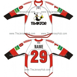 Traktor Chelyabinsk 2012-13 Russian Hockey Jersey Light