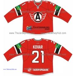 Avtomobilist Yekaterinburg 2013-14 Russian Hockey Jersey Dark
