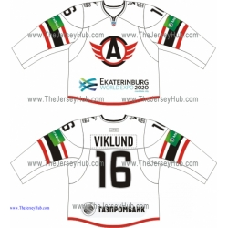 Avtomobilist Yekaterinburg 2013-14 Russian Hockey Jersey Light