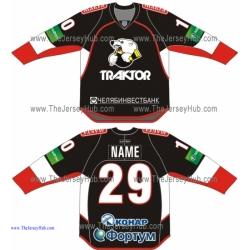 Traktor Chelyabinsk 2013-14 Russian Hockey Jersey Dark