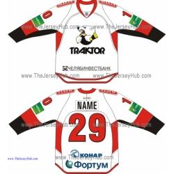 Traktor Tractor Chelyabinsk 2013-14 Russian Hockey Jersey Light