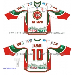 Ak Bars Kazan KHL 2014-15 Russian Hockey Jersey Light
