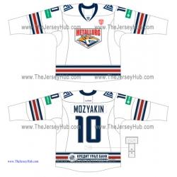 Metallurg Magnitogorsk KHL 2014-15 Russian Hockey Jersey Light