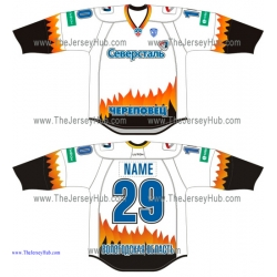 Severstal Cherepovets KHL 2014-15 Russian Hockey Jersey Light