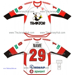 Traktor Tractor Chelyabinsk KHL 2014-15 Russian Hockey Jersey Light