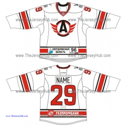 Avtomobilist Yekaterinburg KHL 2015-16 Russian Hockey Jersey Light