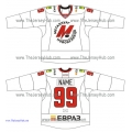 Metallurg Novokuznetsk KHL 2015-16 Russian Hockey Jersey Light