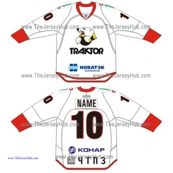 Traktor Chelyabinsk KHL 2015-16 Russian Hockey Jersey Light