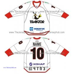 Traktor Chelyabinsk KHL 2015-16 Russian Hockey Jersey Light