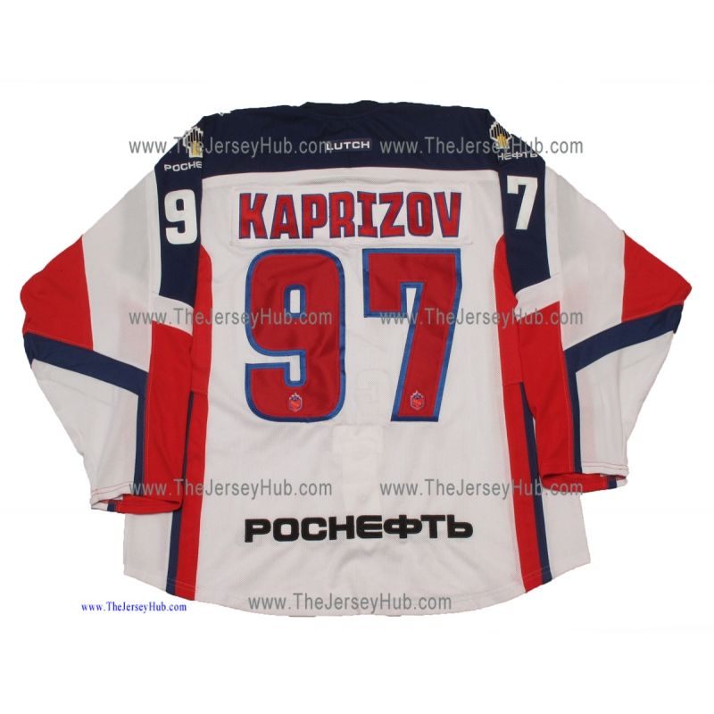 KAPRIZOV #77 OLYMPIC ATHLETE RUSSIA 2018 ICE HOCKEY JERSEY LUTCH
