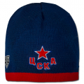 Red Army CSKA Moscow KHL knit Beanie Hat with Black Grey