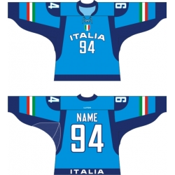 Team Italy Italia Hockey Jersey Dark