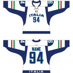 Team Italy Italia Hockey Jersey Light