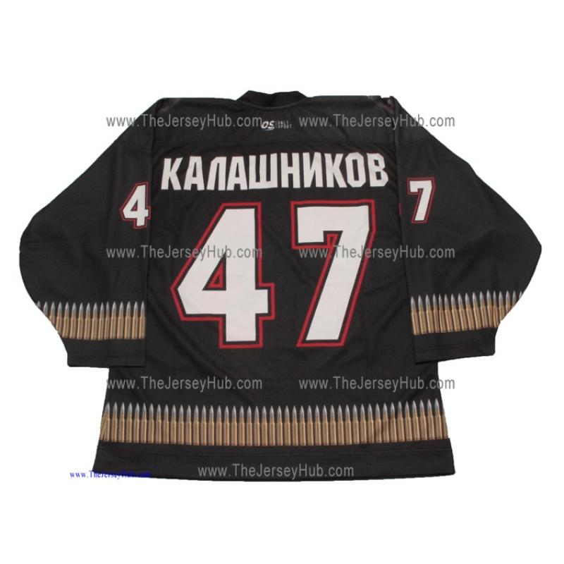 ad34255d8c8 Kalashnikov AK-47 USSR Soviet Russian Hockey Jersey Dark