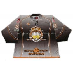 Beer Kings #30 Goalie Russian Hockey Jersey Dark