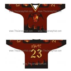 Fire Skulls Russian Hockey Jersey Dark