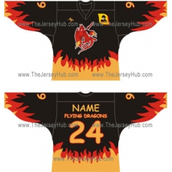 Flying Dragons Russian Hockey Jersey Dark