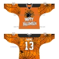 Halloween Russian Hockey Jersey 2014-15 Dark