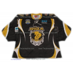 Riga 2000 #1 Goalie Hockey Jersey Dark