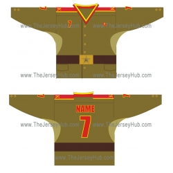 USSR Red Army Soviet Military Cadets Russian Hockey Jersey Dark