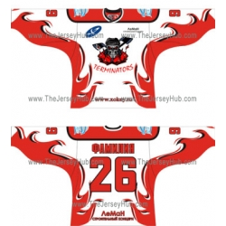 Terminators Russian Hockey Jersey Light