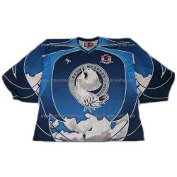 White Bears #1 Goalie Russian Hockey Jersey Dark