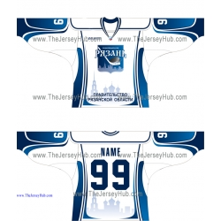 HC Ryazan 2014-15 Russian Hockey Jersey Light