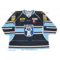 HK Nitra 2012-13 Slovak Extraliga #1 Goalie Slovak Hockey Jersey Dark
