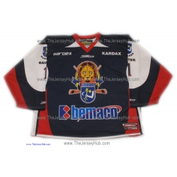 MHK Humenne 2013-14  Slovak #1 Goalie Hockey Jersey Dark