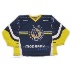 HK Spisska Nova Ves 2012-13 Slovak #1 Goalie Hockey Jersey Dark