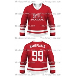 Team Denmark Hockey Jersey Dark